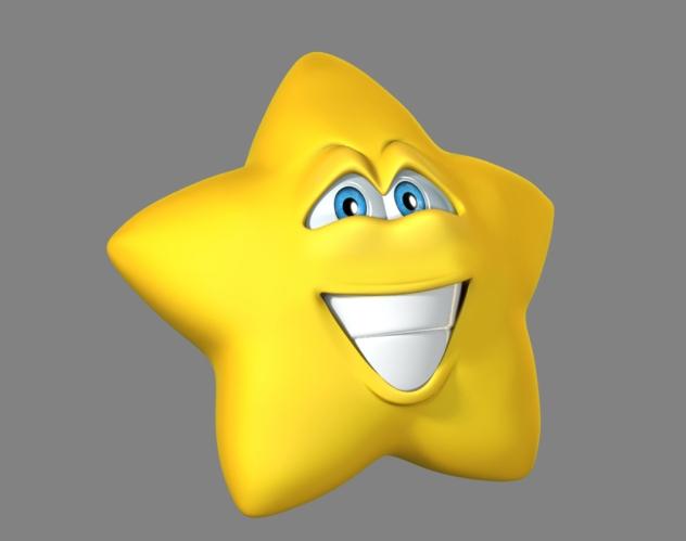 Estrella sorprendida pero muy feliz